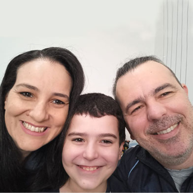 Mãe Joziane Rodrigues e Aluno Murilo Rodrigues Cunha