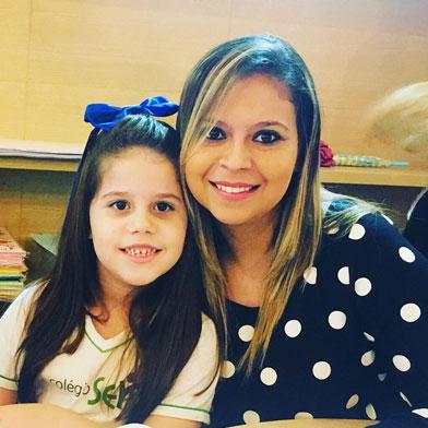 Mãe Valéria Moura e Aluna Sophia Moura